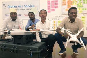 Men working with drones.