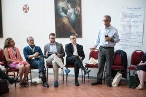 Discussion during the Controluce Bellagio Signature Convening.