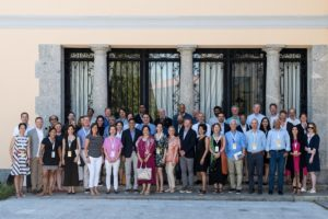 Participants gathered outside Controluce Bellagio conference center.