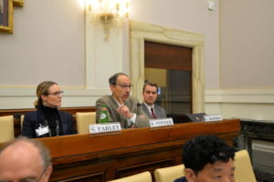 Roy Steiner speaking at the Food Waste Conference located in the Vatican.