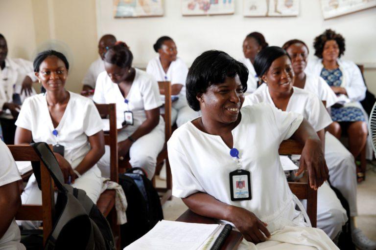 Nurses in a training program.