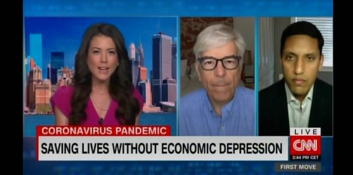 Dr. Rajiv Shah speaking on CNN.
