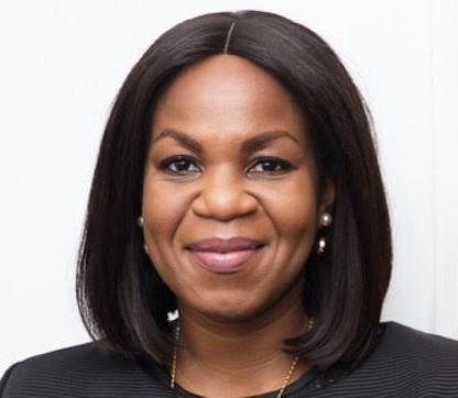 Damilola Ogunbiyi with a slight smile.