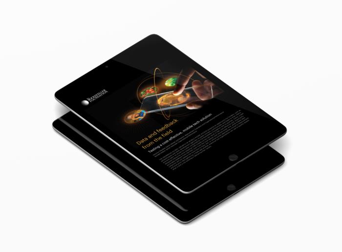 iPad showing a presentation.
