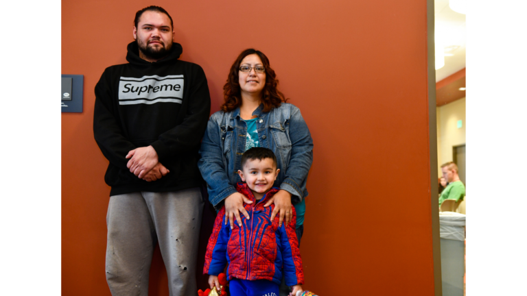 A family after receiving their EITC benefits.