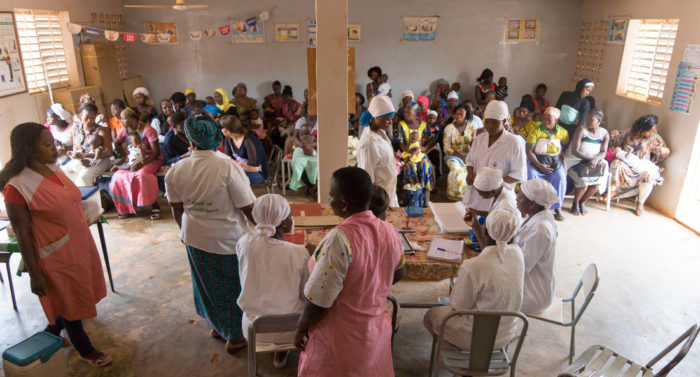 Gavi Centre providing vaccinations to young children.