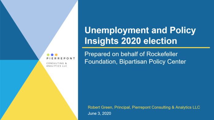 unemployment and policy insights 2020 election