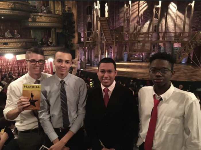 High school students in attendance for Hamilton.
