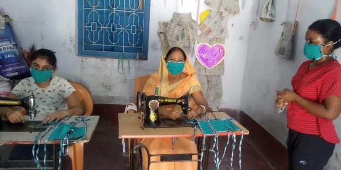 Women at work in Ruby Kumari's Sewing Center.