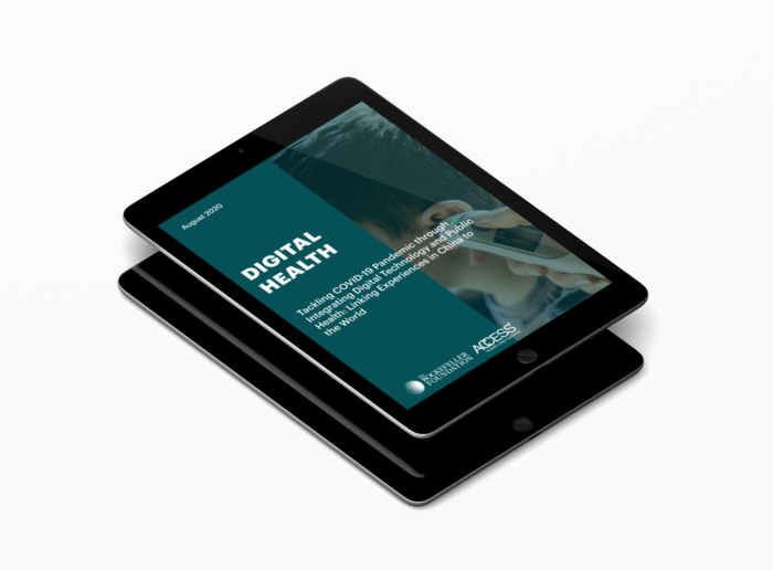 access health report cover in ipad mockup