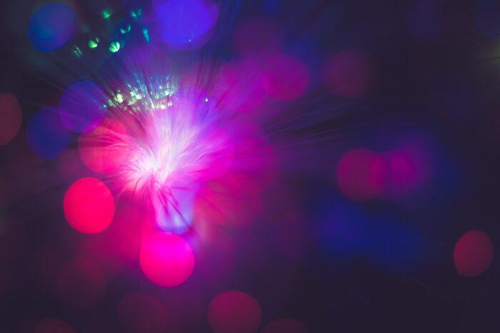 futuristic lights and technology