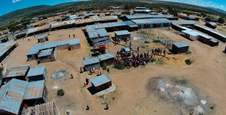 A PowerGen solar microgrid in rural Kenya. Photo courtesy of PowerGen.