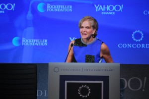 Dr. Judith Rodin Speaking at the 2015 Concordia Summit