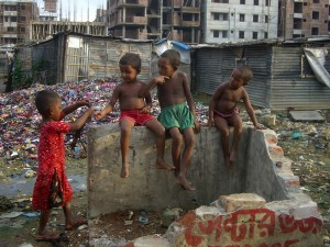 Children in Dhaka, Bangladesh.