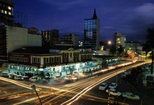 Nairobi night scene.