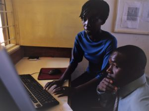Medical students working at Mosoriot Health Center, Eldoret.