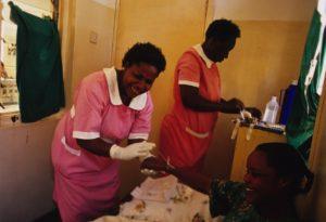 Resty Nakaketoo, a patient at the Kalisizo District Hospital, Rakai.