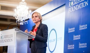 Judith Rodin speaking at the Urban Resilience Summit.