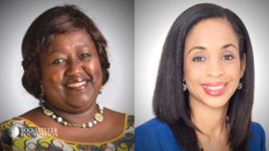 Agnes Binagwaho and Ndidki Okonko Nwuneli side-by-side head-shots.