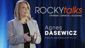 Agnes Dasewicz leading a ROCKYtalks presentation.