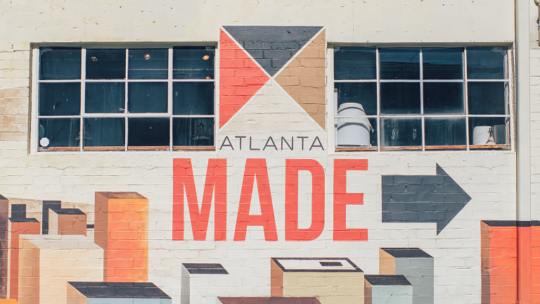 """Atlanta Made"" painted on the exterior of a building."