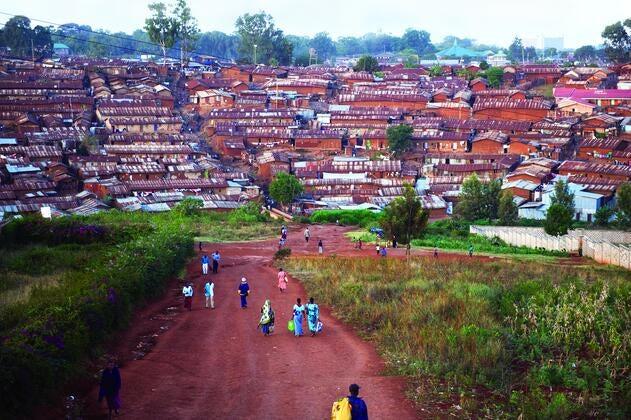 Kiberia Slum District.