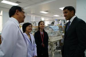 Dr. Rajiv Shah visiting a hospital.
