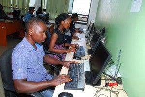 Digital Worker at his Computer