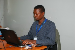 Employee at a business process outsourcing center.