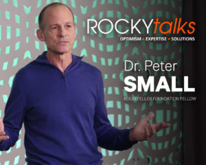 Dr. Peter Small hosting a ROCKYtalks discussion.
