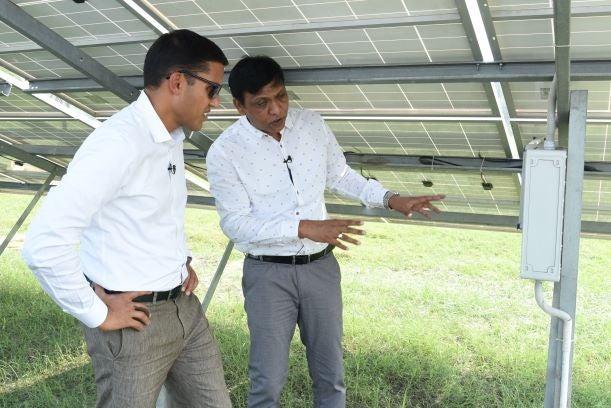 Dr Raj Shah visiting Tara Urja Mini-Grid.