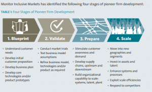 Four Stages of Pioneer Firm Development