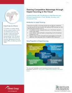 Gaining Competitive Advantage Through Impact Sourcing in the Cloud