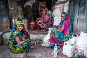 Women in Khajuraho, India.