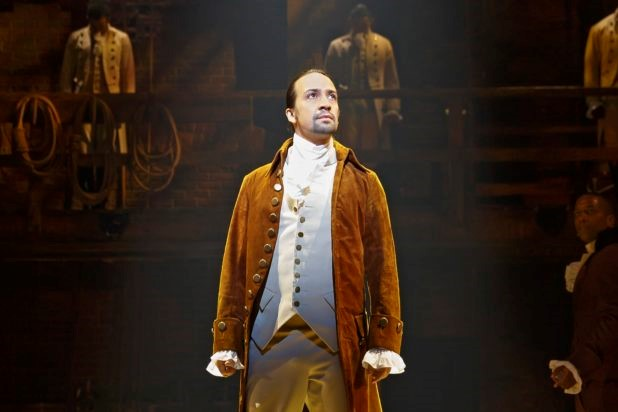 Lin Manuel Miranda's Hamilton performed at the Richard Rodgers Theatre.