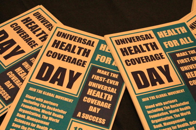 Universal Health Coverage pamphlets.