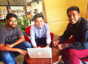 Mohamed Abbas with Rely cofounders.