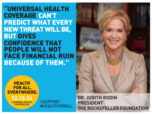 Judith Rodin - Universal Health Coverage