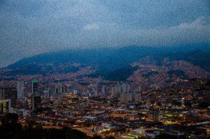 Medellín, Colombia at night.