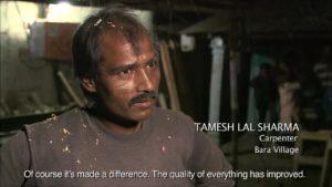 Tamesh Lal Sharma, a rural carpenter in Bara, India.