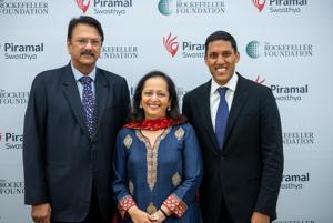 Piramal-Rockefeller partnership announcement.