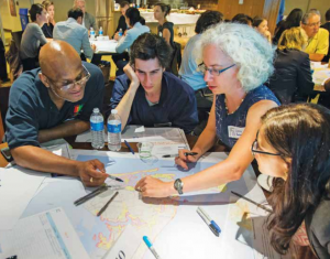 Participants in a discussion at the RBD Group Table convening.