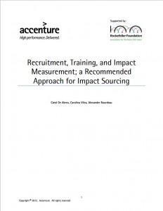 Recruitment Training and Impact Measurement - A Recommended Approach for Impact Sourcing
