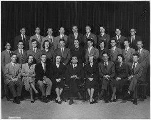 Archive image of former Rockefeller Foundation Interns.