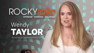 Wendy Taylor leads a ROCKYtalks discussion.