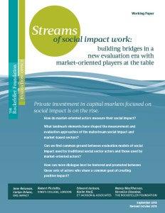 Streams of Social Impact Work