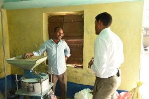 Dr. Rajiv Shah visiting a flour mill in Bihar, India.