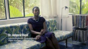 Dr. Adaora Okoli being interviewed.