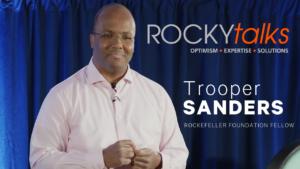 Trooper Sanders leading a ROCKYtalks presentation.