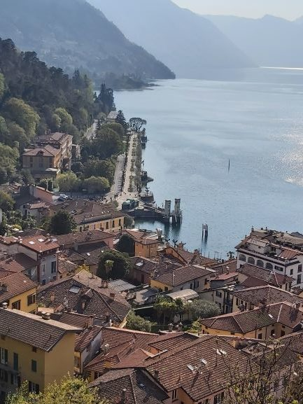 View of Bellagio Village along Lake Como.